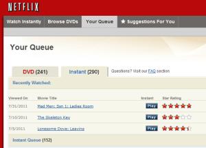 Netflix Instant Queue