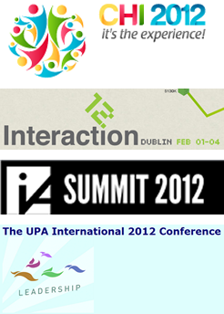 CHI 2012, Interaction 12, IA Summit 2012, and UPA 2012
