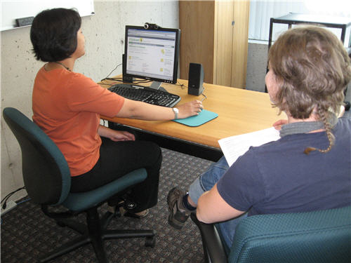 Usability Testing Session